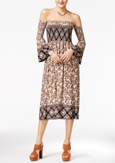 American Rag Printed Off-The-Shoulder Midi Dress, Only at Macy's