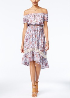 American Rag Printed Off-The-Shoulder Peasant Dress, Only at Macy's