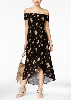 American Rag Printed Off-The-Shoulder Tulip-Front Maxi Dress, Only at Macy's