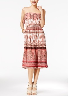 American Rag Printed Strapless Midi Dress, Only at Macy's