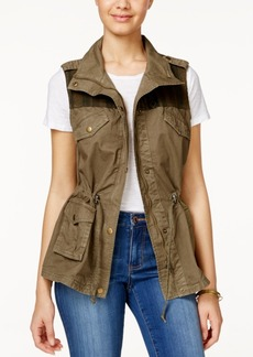 American Rag Printed-Trim Utility Vest, Only at Macy's