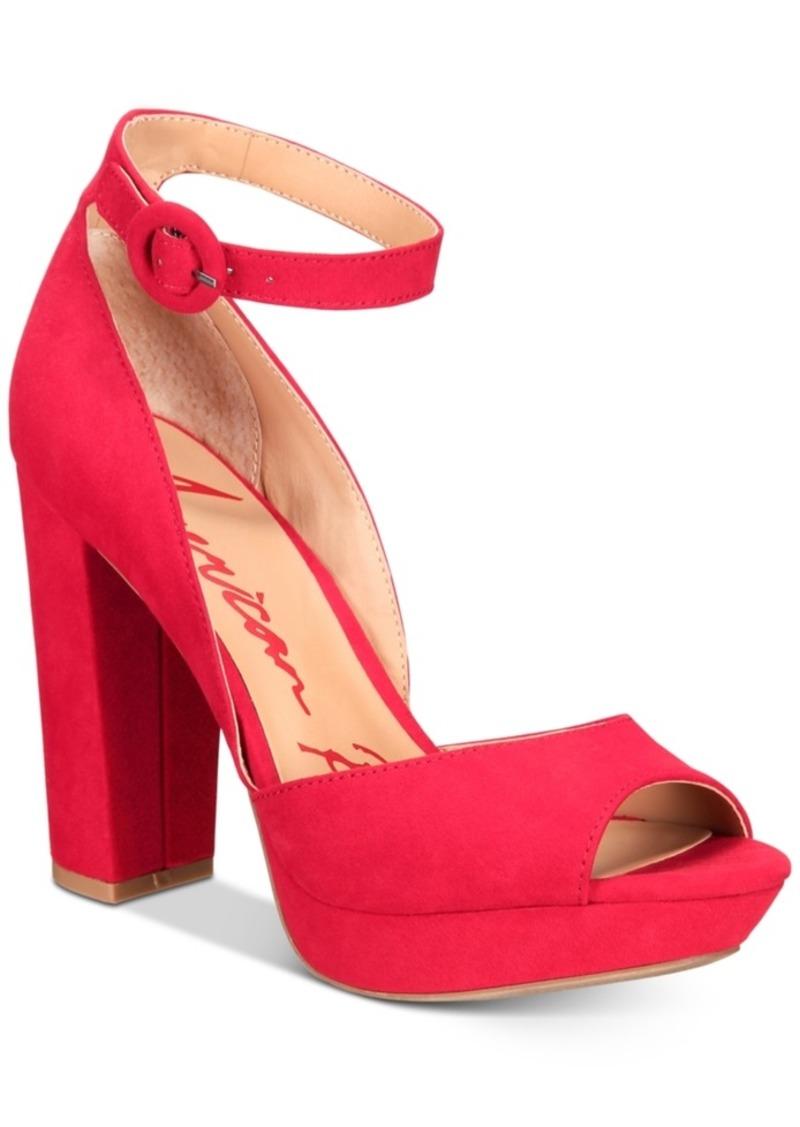 American Rag Reeta Block-Heel Platform Sandals, Created for Macy's Women's Shoes