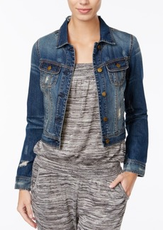 American Rag Ripped Cropped Denim Jacket, Only at Macy's