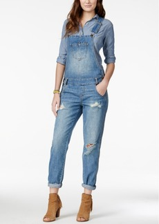 American Rag Ripped Denim Marlowe Wash Overalls, Only at Macy's