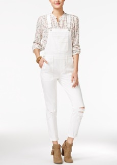 American Rag Ripped One White Wash Overalls, Only at Macy's