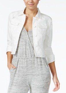 American Rag Ripped White Denim Jacket, Only at Macy's