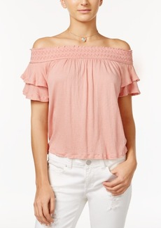American Rag Ruffled Off-The-Shoulder Top, Only at Macy's