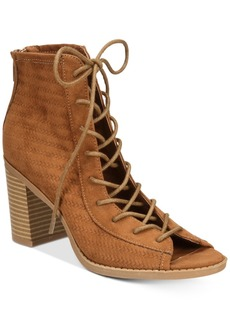 American Rag Sidni Lace-Up Booties, Only at Macy's Women's Shoes