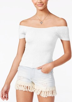 American Rag Smocked Off-The-Shoulder Top, Only at Macy's