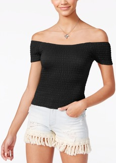 American Rag Smocked Off-The-Shoulder Top, Created for Macy's