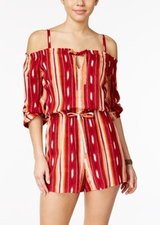 American Rag Striped Off-The-Shoulder Romper, Only at Macy's