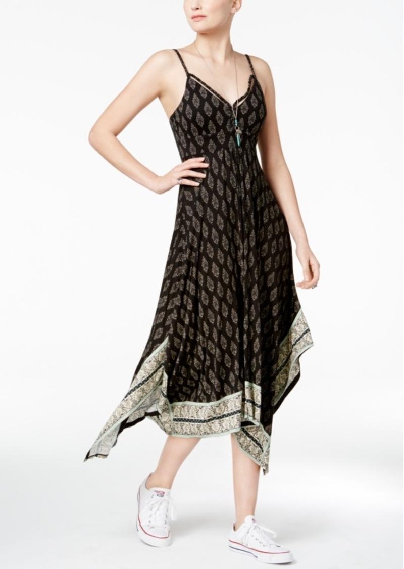 b0a6cff368f American Rag Juniors  Summer Nights Printed Handkerchief-Hem Dress