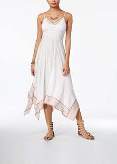 American Rag Summer Nights Printed Handkerchief-Hem Dress, Only at Macy's