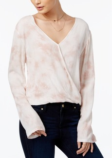 American Rag Tie-Dyed Surplice Peasant Blouse, Only at Macy's