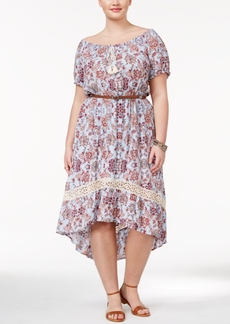 American Rag Trendy Plus Size Belted High-Low Dress, Only at Macy's