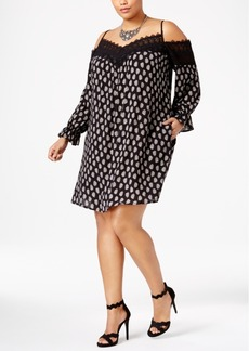 American Rag Trendy Plus Size Cold-Shoulder Dress, Only at Macy's