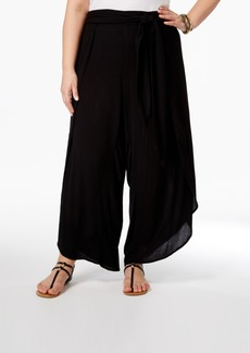 American Rag Trendy Plus Size Draped Gauze Culottes, Only at Macy's