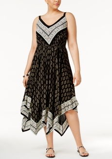 American Rag Trendy Plus Size Handkerchief-Hem Midi Dress, Only at Macy's