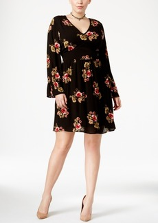 American Rag Trendy Plus Size Peasant Dress, Only at Macy's