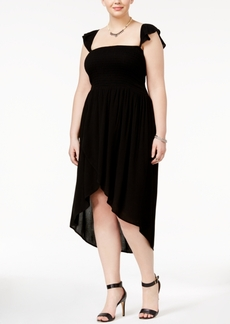 American Rag Trendy Plus Size Ruffled Tulip Dress, Only at Macy's