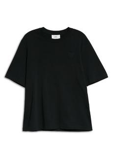 AMI Alexandre Mattiussi Ami de Coeur Embroidered Organic Cotton T-Shirt