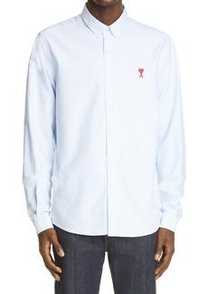 AMI Alexandre Mattiussi Ami de Coeur Embroidered Oxford Button-Down Shirt
