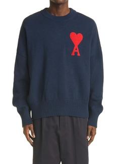 AMI Alexandre Mattiussi Ami de Coeur Oversize Logo Sweater