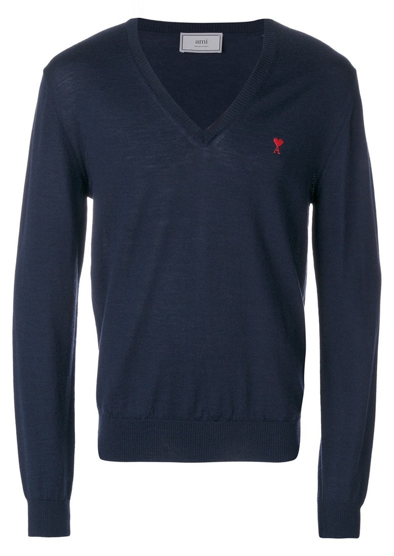 Ami de Coeur V neck sweater
