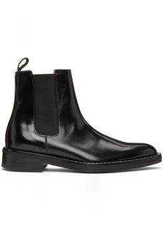 AMI Alexandre Mattiussi Black Leather Chelsea Boots
