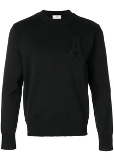 AMI crewneck A patch sweater