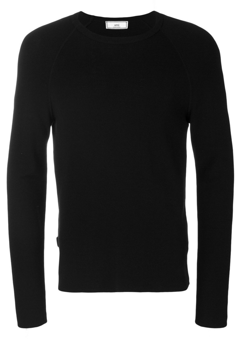 AMI crewneck raglan sleeves sweater