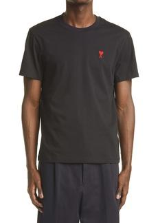 AMI Alexandre Mattiussi Men's Ami de Coeur Embroidered Organic Cotton T-Shirt
