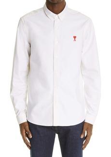 AMI Alexandre Mattiussi Men's Ami de Coeur Organic Cotton Oxford Button-Down Shirt