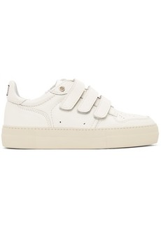 AMI Alexandre Mattiussi Off-White Velcro Low-Top Sneakers