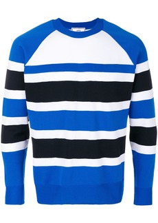 AMI Raglan Sleeves Striped Sweater