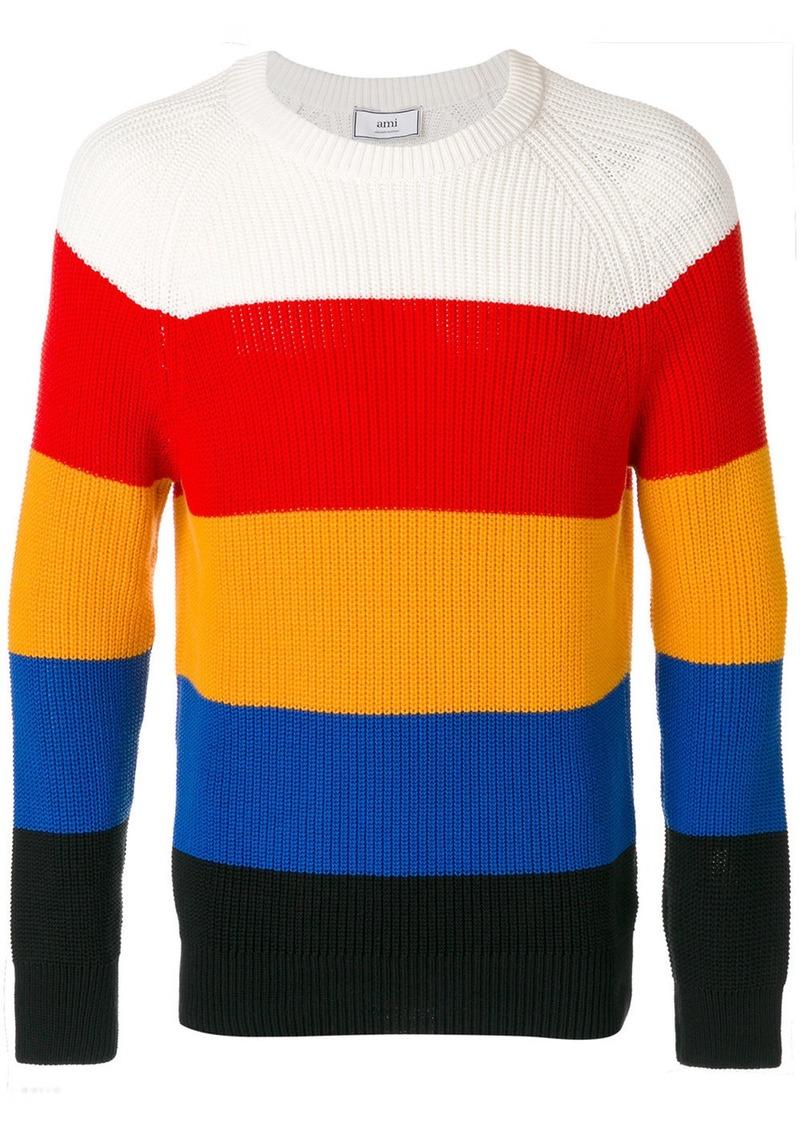 AMI striped round-neck jumper