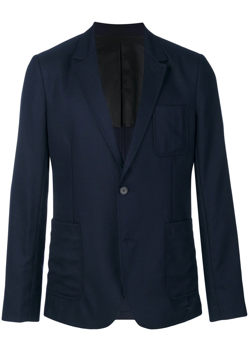 AMI two buttons half-lined jacket
