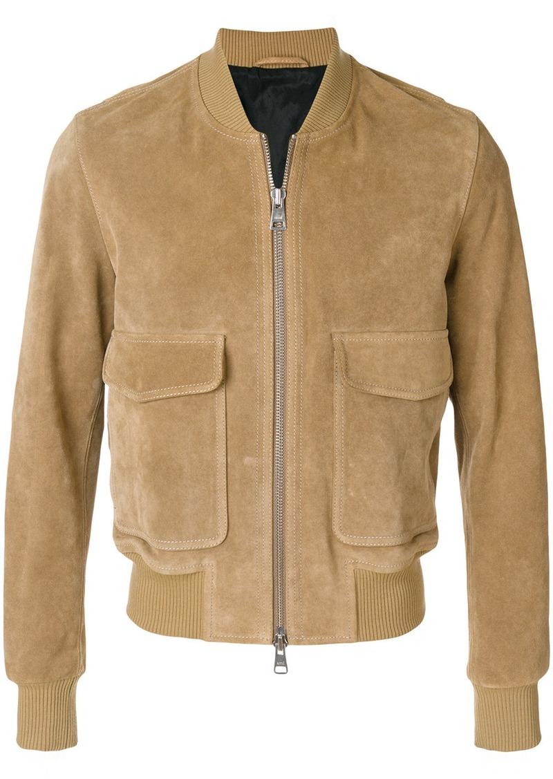 AMI Zipped Suede Jacket