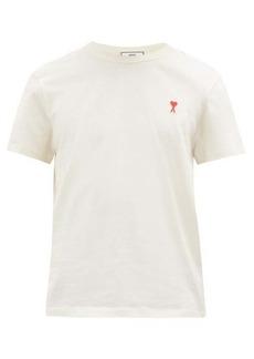 AMI Ami de Coeur-appliqué cotton T-shirt