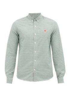 AMI Ami de Coeur check cotton-Oxford shirt