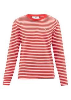AMI Ami de Coeur striped cotton-jersey T-shirt