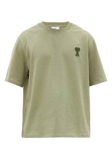 AMI Ami logo-patch cotton-jersey T-shirt