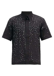 AMI Broderie-anglaise cotton shirt