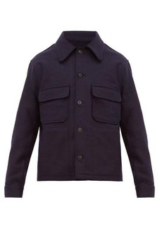 AMI Brushed wool-twill overshirt
