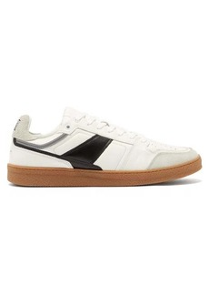 AMI Gum sole suede & leather trainers