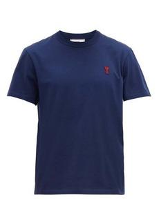 AMI Logo-appliquéd cotton T-shirt