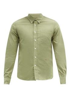 AMI Logo-embroidered cotton shirt