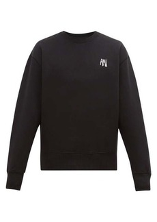 AMI Logo-embroidered cotton sweatshirt