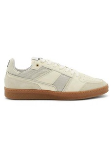 AMI Logo-embroidered leather trainers