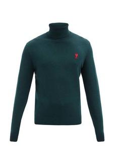 AMI Logo-embroidered merino-wool sweater